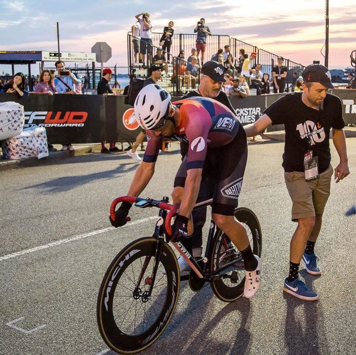 Filippo Fortin - winner of Heat 4 - about to be released for his Super Pole session, where he will set the 2nd fastest time behind teammate Giovanni Longo. Ph: | Red Hook Crit